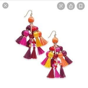 Kate Spade Pretty Poms Tassel Earrings Multi color